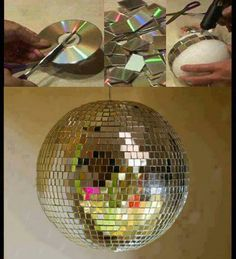DIY Disco Ball! Cute and a small homemade accessory for my room!