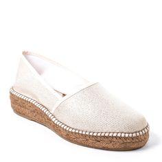 Espadrilles compensées AEDO 1866 Or, en toile petit talon compensé en corde  de cm. Ketsia Jrm · Women shoes ea5f3f8bdad8