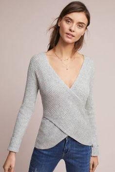 c709d2be8e97 Anthropologie Criss-Cross Ribbed Sweater Φθινοπωρινή Μόδα