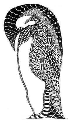 Penguin zentangle #penguin #zentangle Www.facebook.com/ozeedesigns