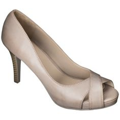 Women's Xhilaration® Angela Peep Toe Heels - Assorted Colors