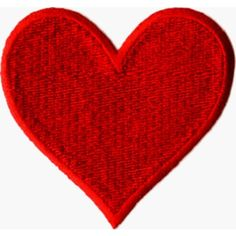 """Solid Red Heart 2.88"""" x 2.75"""" Embroidered Iron On or Sew On Patch ($5.98) ❤ liked on Polyvore featuring hearts, backgrounds and filler"""