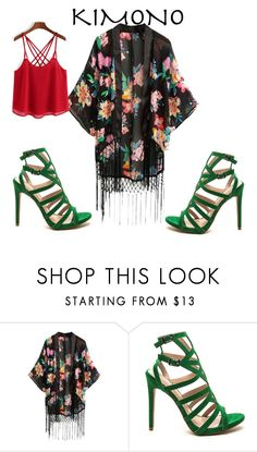 """Samurai"" by iamstyle86 ❤ liked on Polyvore featuring kimonos"