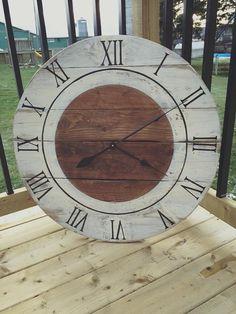 Handmade Reclaimed Wood Clock