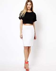 Image 1 of ASOS High Waisted Pencil Skirt