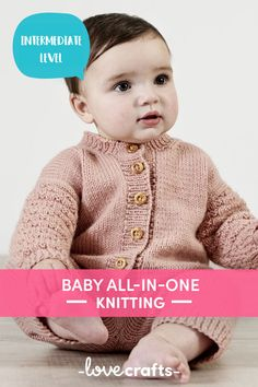 This baby romper is one cute addition to the little one's wardrobe. With a gorgeous basketweave detailing, this all in one knitting pattern is perfect for the young one! | Downloadable PDF at LoveCrafts
