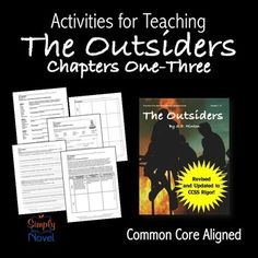 This The Outsiders Chapters 1-3 Sample Packet comes directly from our newly revised The Outsiders Common Core Standards Aligned Literature Guide, which can be found