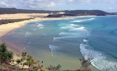 According to an ancient Aboriginal legend, the sands at Rainbow Beach are a result of the rainbow spirit falling onto the large beachside cliffs after losing a battle over a beautiful woman.