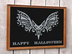 Halloween Bats funny cross stitch pattern funny by DecorByTwins