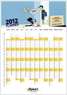 Flip out on this 2012 planner