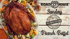 Join us every Sunday for our All You Can Eat Brunch!   Adults: 16.99 / Kids 3-12: 7.99 / Kids under 3: 1.99  Hot Food Table  Sweets Table  Cooked To Order Station   Build Your Own Omelet   PLUS Mimosas, Passion Punch and our $4 Build Your Own Bloody Mary Bar! Brunch Menu, Sunday Brunch, Bloody Mary Bar, Mimosas, All You Can, Omelet, Punch, Buffet, Join