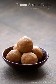 Peanut Sesame Seeds Laddu Recipe with stepwise pics - An easy and healthy #Indian sweet #recipe - blendwithspices.com
