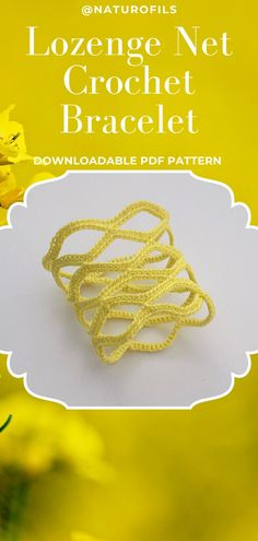 My lozenge net bracelet can also be crocheted in one-color version. Choose those you prefer. Learn how to crochet it from my pattern. It contains detailed step-by-step written instructions and photographs. Crochet Bracelet Pattern, Crochet Jewelry Patterns, Crochet Accessories, Bracelet Patterns, Crochet Earrings, Netted Bracelet, Christmas Jewelry, Christmas Goodies, Learn To Crochet