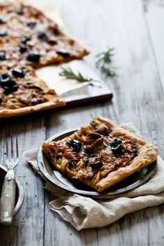 Pissaladiere - a really lovely, French alternative to pizza. Caramelised onions, anchovies and olives on crispy pastry. #yum
