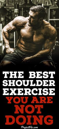 Tired of the same old #ShoulderRoutine? Maybe you have stalled on your #progress to getting #Big #Shoulders . Take a look at this exciting exercise that nearly no one is doing in the #gym ! Give it a try and fall in love with #ShoulderDay all over again! #ProjectVis