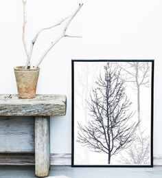 Minimalist Poster, Printable Art, Trees, Branches,  Scandinavian Art,Wall Decor, Abstract Wall Art, Abstract Tree, Instant Download by exileprints on Etsy https://www.etsy.com/listing/245722558/minimalist-poster-printable-art-trees