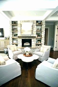 Small living room chairs seating ideas show cozy couch best only on sitting . small cozy living room chairs for unique ideas Living Room Seating, Living Room With Fireplace, Cozy Living Rooms, Formal Living Rooms, My Living Room, Living Room Chairs, Home And Living, Small Living, Dining Room