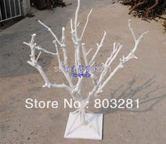 50cm tall wedding and event decorative statue tree natural branch wedding crystal tree table top tree