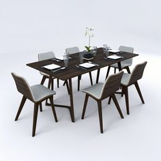 model: Dining table set contains Morph Chair, and Twist Table by Zeitraum. Dinning Set, Dining Table, Art Inspiration Drawing, 3 D, Table Settings, Interior Design, Chair, Furniture, Faucet