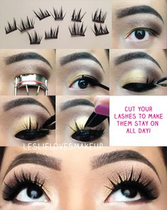 how to put on fake eyelashes, more comfortable this way!