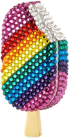 Judith Leiber Couture popsicle-shaped Fully beaded with Austrian crystals. Cheap Purses, Cute Purses, Cheap Handbags, Purses For Sale, Handbags Michael Kors, Purses And Handbags, Luxury Handbags, Wholesale Handbags, Luxury Bags