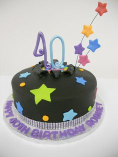 40th Birthday Cake #birthdaycake