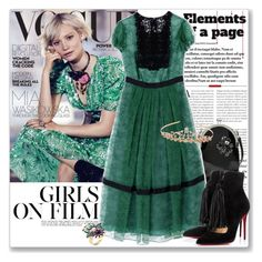 """""""Girl of the Moment: Mia Wasikowska"""" by coraline-marie ❤ liked on Polyvore featuring Simone Rocha, Burberry, Christian Louboutin and Monsoon"""