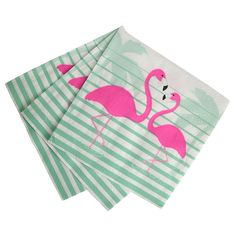 Tropical Pink Flamingo Paper Napkins | Talking Tables