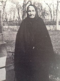 Mary-Jane Ouellette was my step-great grandmother. She married my great grandfather in Batoche. She was fifteen during the North-West Resistance when Louis Riel and his family lived with her family. In this picture, she is standing beside Riel's grave in Manitoba.