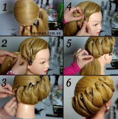Standard hair - the Queen's Bun #ballroom #howto #dance