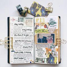 Week 13 #midoritravelersnotebook #travelersnotebook #travelersnote #travelerscompany #diary #journal #creativejournal #planner #weeklyplanner #maskingtape #washitape #memorykeeping #stickers #stationeryaddict