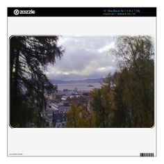 Look out on the City of Trondheim with Munkholmen in the back from a place close to Kristiansten Fortress. You can also Customized it to get a more personally looks. Macbook Skin, Laptop Skin, Trondheim, Everywhere You Go, House Building, Small Island, Laptop Stickers, Cool Designs, Mountain