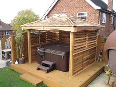 hot tub enclosures | Square Cedar Gazebos Hot Tub Garden Rooms