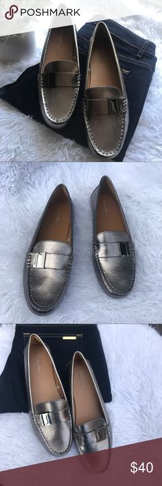 Calvin Klein Pewter Loafer Driving Shoes size 8 New without box Please feel free to ask any questions regarding this item Calvin Klein Shoes Flats & Loafers