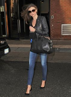 Balenciaga jacket, Givenchy top, FRAME denim jeans, Givenchy bag, Louis Vuitton sunglasses
