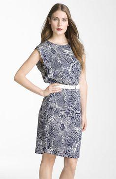 Anne Klein 'Lion Print' Belted Dress | Nordstrom $68.50