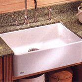 """Found it at Wayfair - Manor House 27.63"""" x 16.38"""" Fireclay Apron Front Kitchen Sink"""