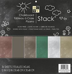 DCWV Chalkboard Paper Stack New 36 Sheets 12 x 12 Acid Free  #DCWV