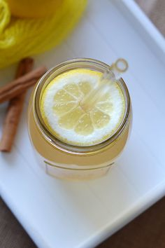 Lemon Water Elixir - This lemon water elixir promises to naturally detox your body and give both your metabolism and immune system a bit of a boost!