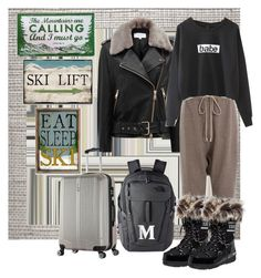 """""""My Airport Style to go Skiiing"""" by summer-marin ❤ liked on Polyvore featuring Cole & Son, Christian Lacroix, Reiss, Rick Owens, The North Face and Thomas Sabo"""