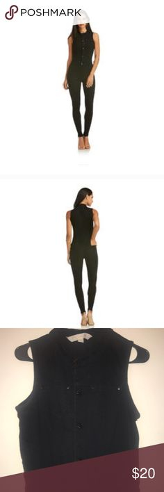 Black Stretch Denim Jumpsuit Worn only twice, in great condition Nicki Minaj Collection Other
