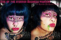 Green and Pink Leopard Pink Leopard, Leopard Makeup, Sugarpill Cosmetics, Bright Makeup, Face Art, Pink And Green, Halloween Face Makeup, Derby