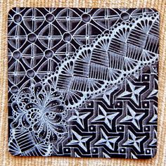 Lily's Tangles: Diva's challenge and my weekly tiles
