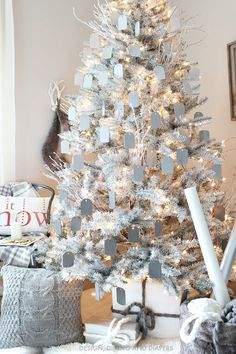 Gray and White Ombre Christmas Tree MichaelsMakers  Design Dining and Diapers