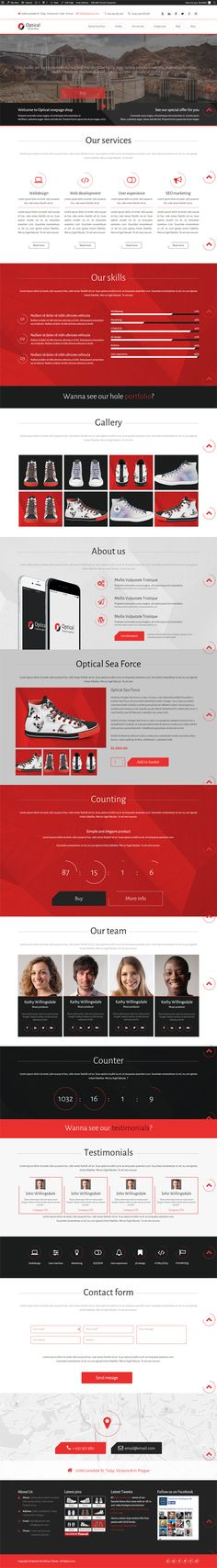 Optical - Simple Onepage WooCommerce Theme