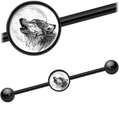 piercing piercing ideen 14 Gauge Black Anodized Mono H Industrial Piercing Jewelry, Industrial Earrings, Industrial Piercing Barbells, Industrial Barbell, Industrial Bars, 14k Gold Jewelry, Body Jewelry, Jewelry Gifts, Jewlery