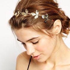New Fashion Vintage Tiara Gold Leaves Crown Bridal Headband Princess Diadem 2017 Hair Jewelry Gift Wedding Dress Accessories