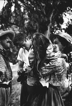 "James Dean behind the scenes of ""East of Eden."" 1955 Warner / MPTV"