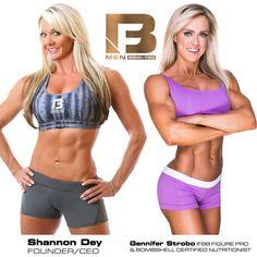 Setting the GOLD STANDARD for training women and NOW MEN! Shannon Dey-CEO & Founder Bombshell Fitness and Gennifer Strobo-IFBB Figure PRO ranked 4th in the world.   BSF MEN: http://bombshellfitness.com/bsf-men-program/
