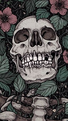 Ideas For Wallpaper Dark Skull Art Prints Art And Illustration, Arte Obscura, Skeleton Art, Skeleton Bones, Skull Wallpaper, Arte Horror, Skull And Bones, Skull Art, Aesthetic Art